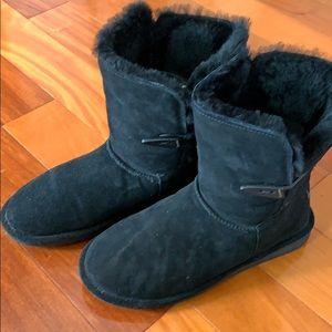 BearPaw Woman's Black Boots